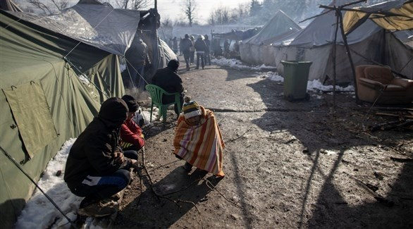 مخيم للمهاجرين في البوسنة على الحدود مع أوروبا (أرشيف)