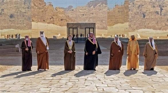 قة دول الخليج قبيل انطلاق قمة العلا (أرشيف)