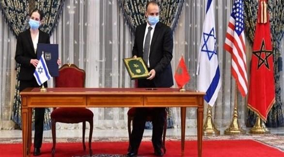 أثناء توقيع الاتفاقيات بين المغرب وإسرائيل (أرشيف)