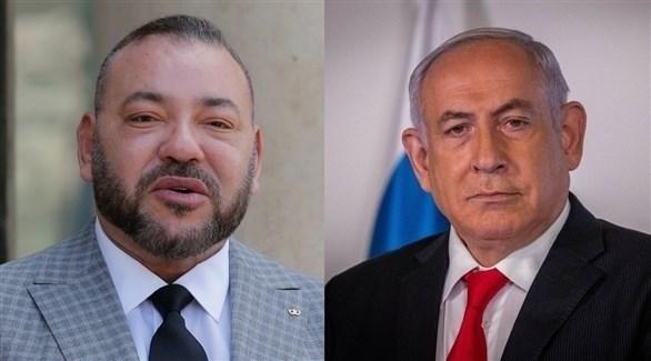 ملك المغرب محمد السادس ورئيس ورراء إسرائيل بنيامين نتانياهو (أرشيف)