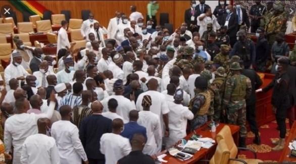 نزاع في البرلمان الغاني (أرشيف)