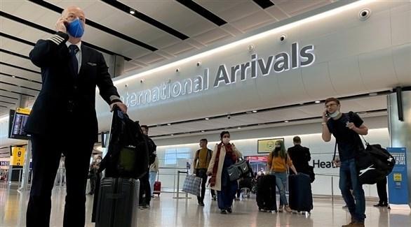 مسافرون في مطار هيثرو الدولي بلندن (أرشيف)