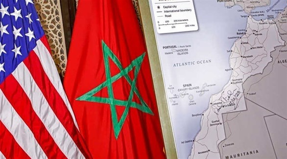 علما المغرب والولايات المتحدة وخريطة المملكة (الحرة)