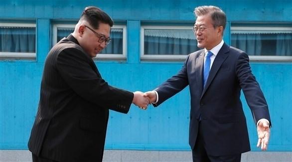 رئيس كوريا الجنوبية مون جاي إن وزعيم كوريا الشمالية كيم جونغ اون (أرشيف)