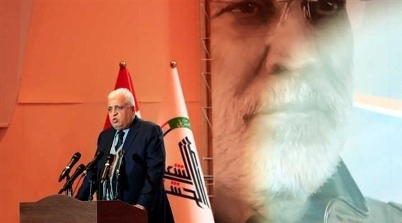رئيس ميليشيات الحشد الشعبي الموالية لإيران فالح الفياض (أرشيف)