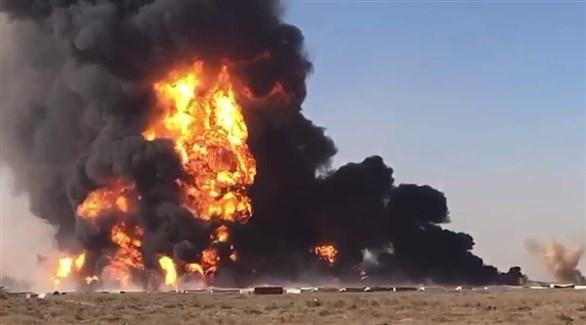 صورة متداولة للحريق (تويتر)