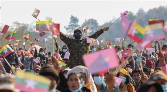مسيرات للشعب البورمي عقب الانقلاب العسكري (أرشيف)