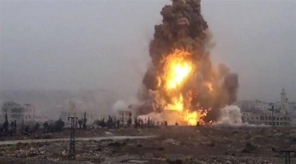 انفجار سابق لقنبلة يدوية في لبنان (أرشيف)