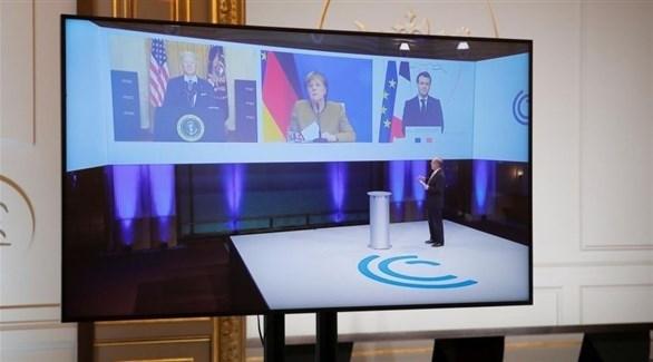 اجتماع الرئيس الأمريكي رفقة حلفاءه الأوربيين (أرشيف)