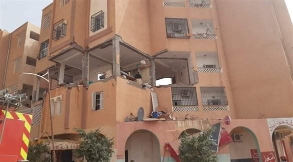 الأضرار التي لحقت بالمبنى (الإعلام الجزائري)