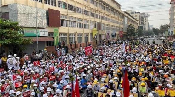 مظاهرات ميانمار (أرشيف)
