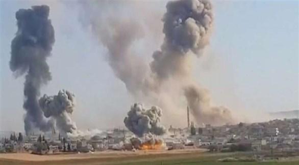 تصاعد الدخان والنيران بعد قصف تركي سابق لكردستان العراق (أرشيف)