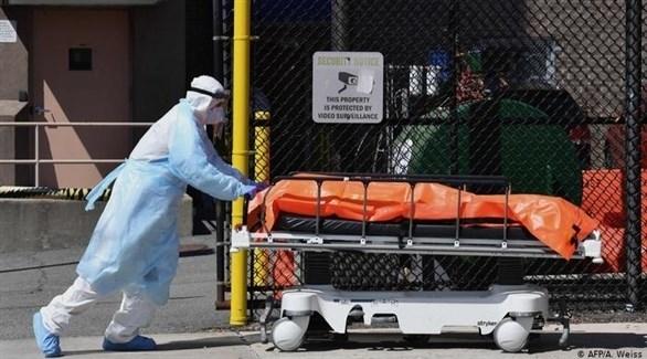 نقل متوفي بفيروس كورونا من أحد المراكز الطبية في فرنسا (د ب أ )