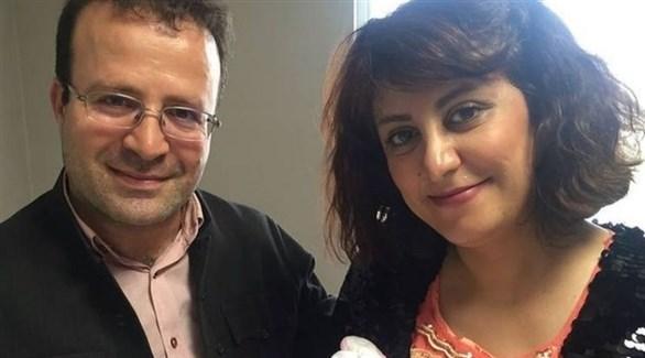 كميل أحمدي مع زوجته شفق رحماني (أرشيف)
