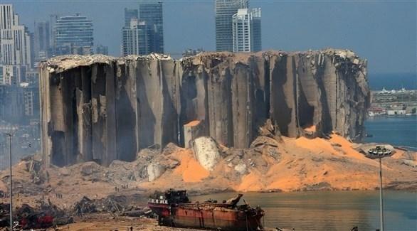 مرفأ بيروت عقب انفجاره (أرشيف)