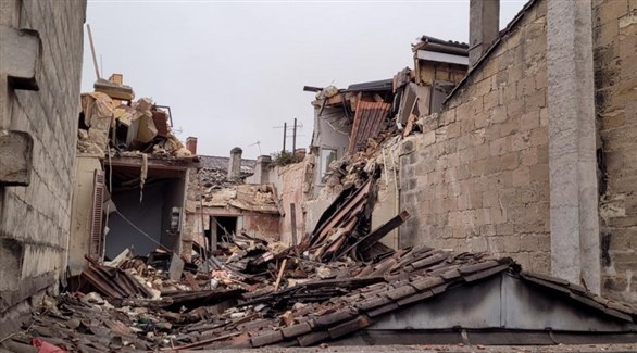 المبنى المتضرر في فرنسا (أرشيف)