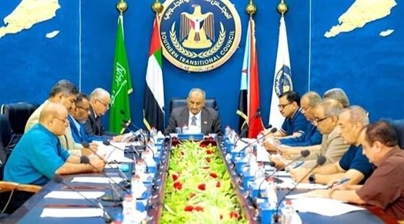 خلال اجتماع المجلس الانتقالي الجنوبي في اليمن (صحيفة الأيام)