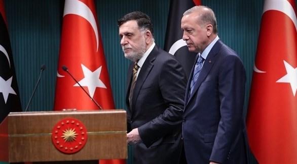 فايز السراج وأردوغان (أرشيف)