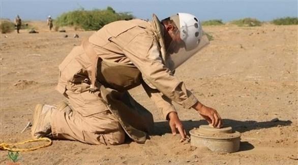 خبير متفجرات يعطل لغماً أرضياً في اليمن (أرشيف)