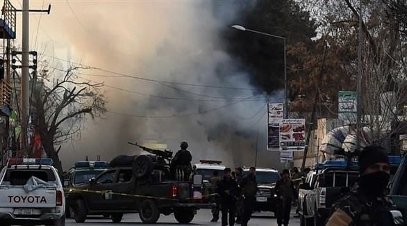 الشرطة الأفغانية في موقع تفجير سابق في كابول (أرشيف)