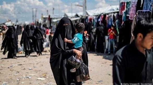مخيم الهول في سوريا (أرشيف)