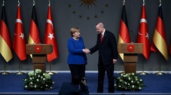 أردوغان وميركل (أرشيف)