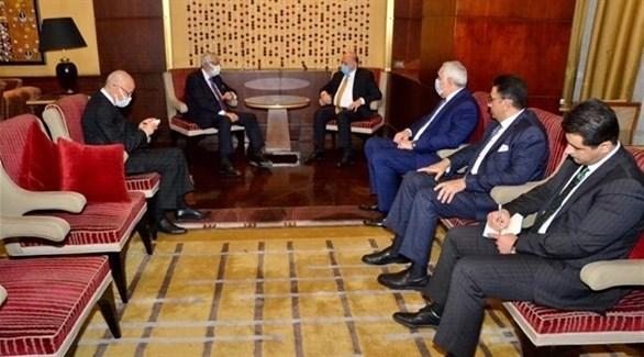 وزير الخارجية العراقي حسين ووزير خارجية الوفاق محمد طاهر سيالة (أرشيف)