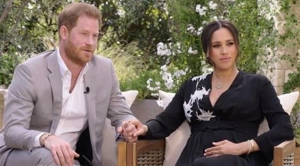 الأمير هاري وزوجته ميغان في مقابلتهما الأخيرة مع أوبرا وينفري (وكالات)