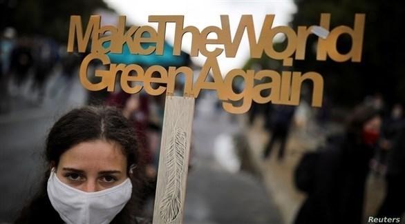 جابن من تظاهرة لدفع الحكومات للاهتمام بالبيئة (أرشيف / رويترز)