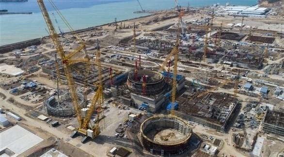 أعمال البناء في محطة أكويو النووية (أرشيف)