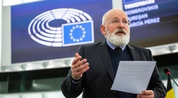 نائب رئيسة المفوضية الأوروبية فرانس تيميرمانس (أرشيف)