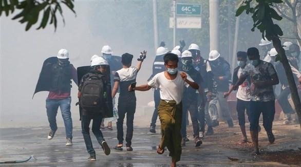 احتجاجات ضد الجيش في ميانمار (أرشيف)