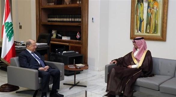الرئيس عون يلتقي السفير السعودي (فيسبوك)