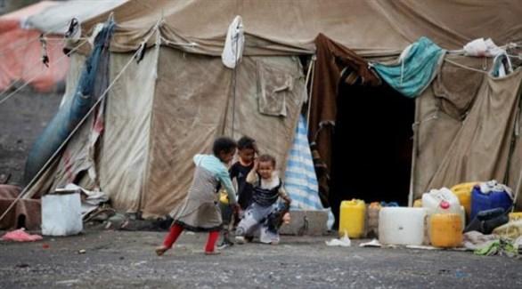 أطفال يمنيون في مخيم للاجئين (أرشيف)
