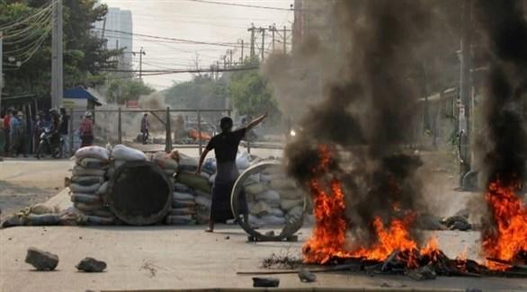 جانب من الاحتجاجات في ميانمار (أرشيف)