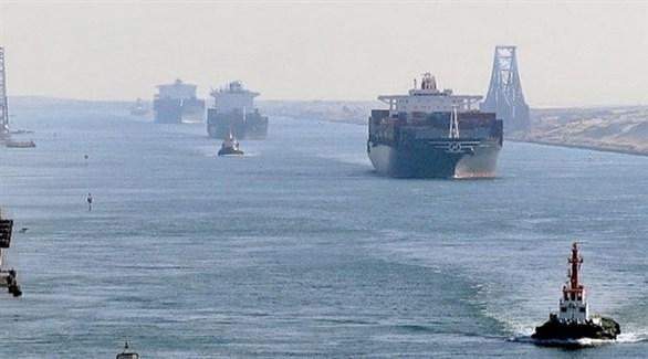 سفن حاويات تعبر قناة السويس المصرية (أرشيف)