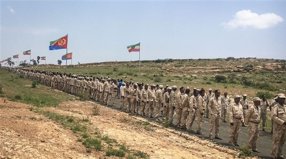 جنود  أرترييون على الحدود مع إثيوبيا (أرشيف)