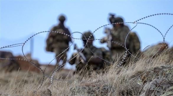 عناصر من الجيش التركي في إحدى المناطق الحدودية (غيتي)