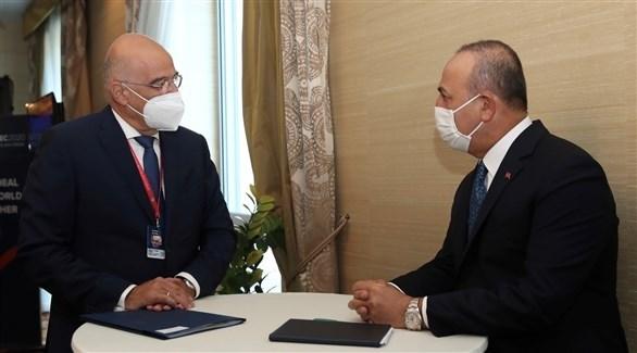 لقاء بين وزيرا خارجية تركيا واليونان (أرشيف)