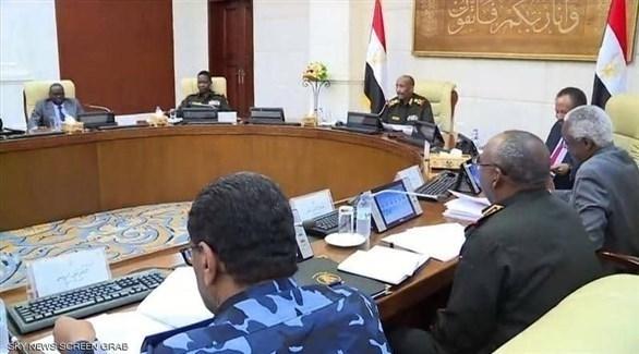 مجلس الأمن والدفاع السوداني برئاسة الفريق أول ركن عبد الفتاح البرهان (أرشيف)