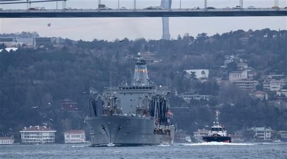 سفينة حربية أمريكية على أبواب البحر الأسود (أرشيف)