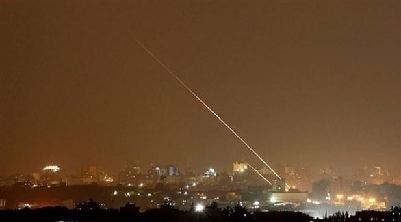 صاروخ ينطلق من غزة صوب إسرائيل (أرشيف)