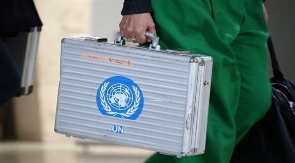 حقيبة دبلوماسية تحمل شعار الأمم المتحدة (أرشيف)