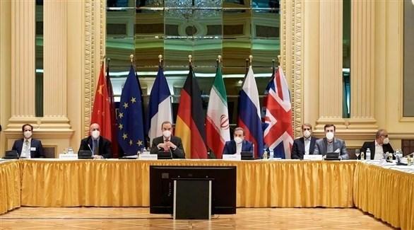 اجتماع القوى الأوروبية الراعية للاتفاق النووي الإيراني في فيينا (أ ف ب)