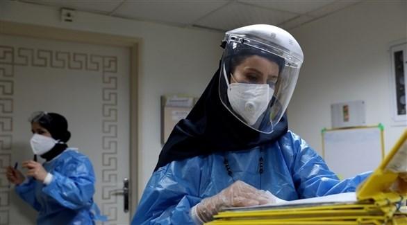 طبيبة في مستشفى إيراني للتعانل مع مصابي كورونا (أرشيف)