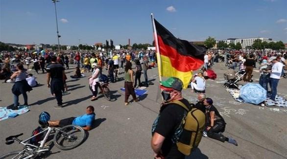 محتجون على قيود كورونا في ألمانيا (أرشيف)