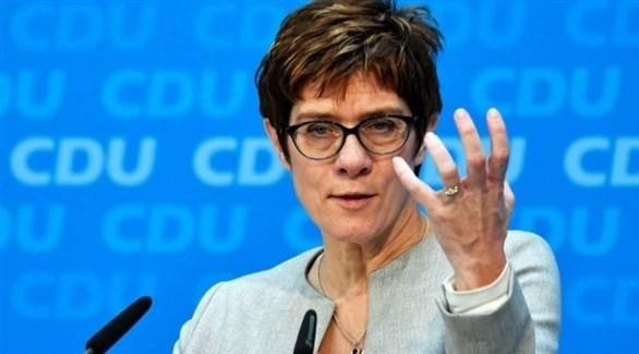 وزيرة الدفاع الألمانية أنيجريت كرامب كارينباور (أرشيف)