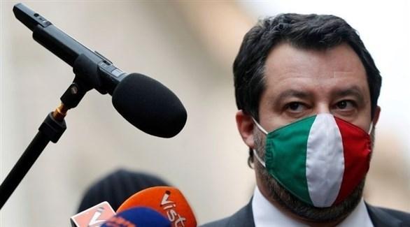 زعيم حزب الرابطة الإيطالي اليميني المتطرف، ماتيو سالفيني (أرشيف)