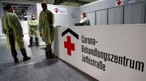 مركز لفحص الإصابة بفيروس كورونا في ألمانيا (أرشيف)