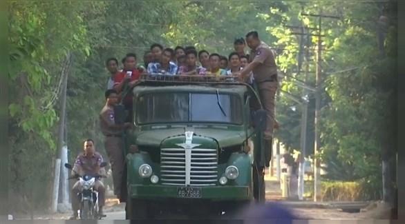معتقلون في ميانمار (أرشيف)